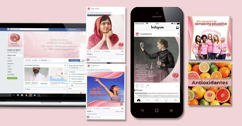 redes sociais núcleo da mama